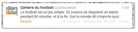 Tweets les cahiers du football