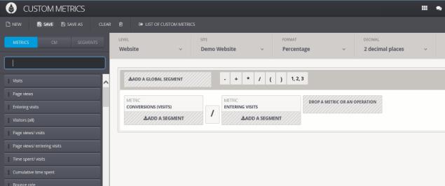 custom metrics interface
