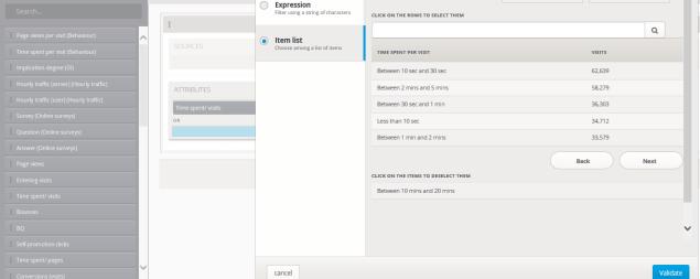 Segments application interface