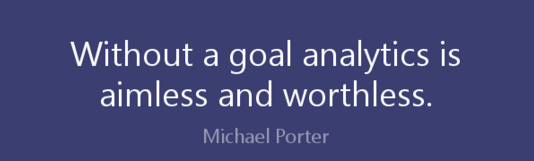 inspartional quote about objectives digital analytics