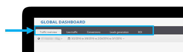 Tabs in a dashboard