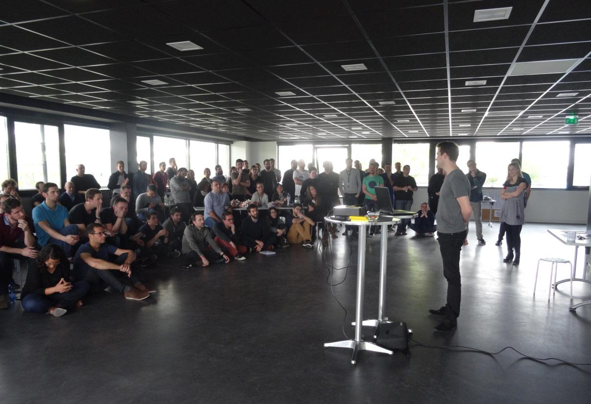 Demo during hackathon