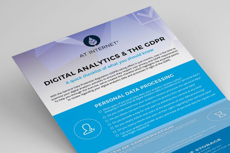 GDPR & Digital Analytics Checklist